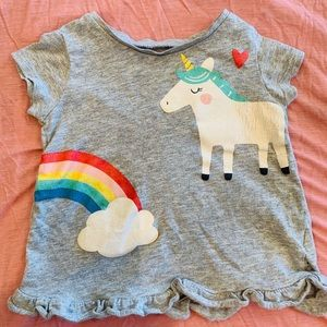 Carters 12 months Toddlers Unicorn short Shirt